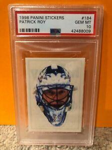 GEM MINT PSA 10 Patrick Roy Mask 1998 Panini #184 Sticker Colorado Avalanche