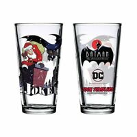 Christmas With The Joker Pint Glass Toon Tumbler Batman The Animated Series New
