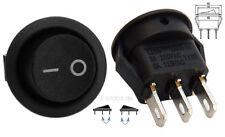 Runder Wippschalter Ø16mm / 14mm schwarz, Umschalter, Ein-Aus Schalter #123