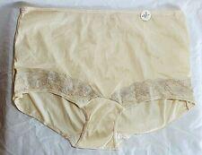 New listing Vtg Granny Panty Pair Briefs Sz 7 L Nude Yellow Nylon Sheer Greenwald & Son