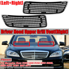 Pair Left & Right Side Hood Upper Grill Vent For 2007-2013 MERCEDES S550 W221