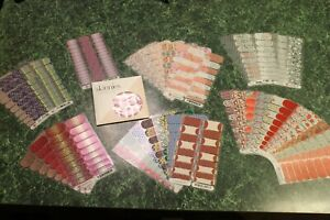 Jamberry Nail Wraps 24 Full Shts, (19) 1/2 Shts, 1 pkg Skinnies, 24 Partial Shts