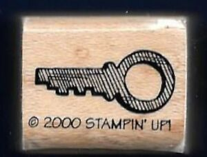 KEY SECURITY BOX Style Design STAMPIN' UP! 2000 Papa's Pocket wood RUBBER STAMP