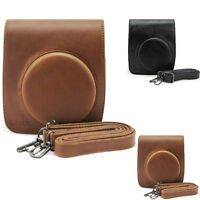 Vintage PU Leather Camera Shoulder Case Bag For Fuji FUJIFILM Instax Mini 90