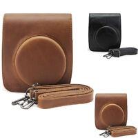 Vintage PU Leather Camera Shoulder Case Bag For Fuji FUJIFILM Instax Mini 90