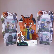 Set of 5 Packs Zootopia Action Figures Plush Toys Movie