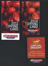 2005/7/10/11/12 AFL Fixtures - variety of outlets NAB Carlton United Metlink
