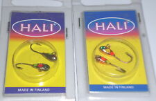 Hali 22 Timantti Ice Panfish Jigs (Lot of 2-Black/Copper-2/pk-Hard to Find)
