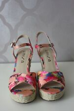 Unisa Multicolor Platform Wedge Sandals Sz 10