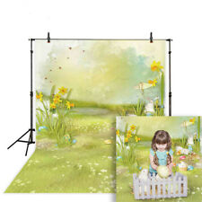 Easter photography backdrop spring rabbit egg painting fairy tale background