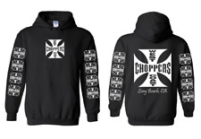west coast choppers custom bike shop hoodie guildan S M L 1 2 3 4 5 XL new
