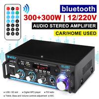 600W HiFi Verstärker bluetooth Stereo Vollverstärker Audio Endstufe FM