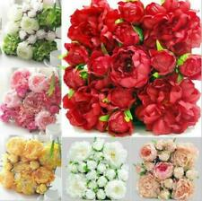 6pcs High Quality Artificial Big Rose Flower Panels For Wedding Background-30x30