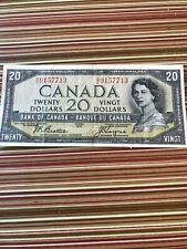 CANADA 20 DOLLAR BILL---- DEVILS FACE---1954
