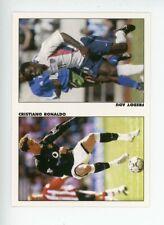 CRISTIANO RONALDO 2003 Soccer Pax UK Rookie RC Manchester United w/ FREDDY ADU