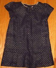 TODDLER GIRLS GYMBOREE DRESS NAVY BLUE GOLD  12-18 MONTHS EASTER SPRING SUMMER