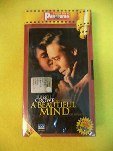 VHS film A BEAUTIFUL MIND Russell Crowe Ed Harris SIGILLATA PANORAMA (F70)no dvd