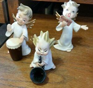 Vintage Ceramic Musical Choir Boy Angels-Blue N Crown Marking 1584L-Capodimonte?