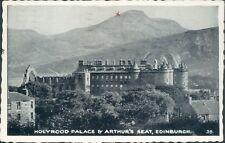 Edinburgh holyrood palace and arthur's seat