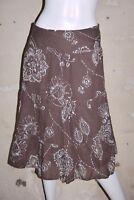 BURTON Taille 38  Superbe jupe doublée marron en coton skirt