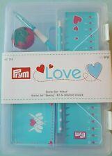 Prym Starter Set Nähen Love Schere Nadeln Nahttrenner Kreidestift Handmaß 651222
