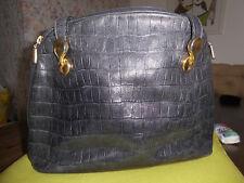 Damenhandtasche Bodenschatz Leder, schwarz ^^^^am Bügel gold^^^^