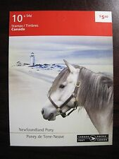 Canadian Horses - Newfoundland Pony 10 X 54c Stamps Booklet BK403MNH