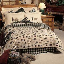 Northern Exposure Rustic Cabin Wildlife Bear Reversible Comforter Set Twin Euc