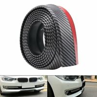 Black Universal Car Rubber Bumper Lip Splitter Body Spoiler Protector 2.5M x 6CM