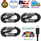 3x Fast Charger Cable Charging Cord For iPhone 5 6 7 8 10 11 12 Max 13/13 Pro
