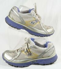 Womens Skechers Tone Ups SN11751 Size US 9.5 Gray Purple Fitness Sneakers Shoes
