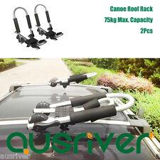 2x 75kg Car Roof Top Mounted Kayak Canoe Folding Carrier Holder J-Bar Rustproof
