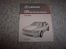 1999 Lexus LS400 LS 400 Factory Electrical Wiring Diagram Manual 4.0L V8