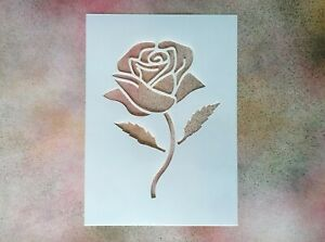 A5 Simple Rose Shape Mylar Stencil - Shabby Chic Rustic Vintage Wall Furniture