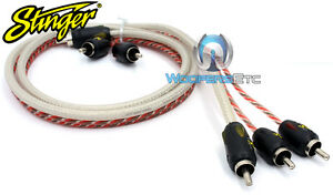 STINGER SI496 6 FT FEET FOOT 4000 AUDIO VIDEO RCA INTERCONNECT CABLE WIRE NEW