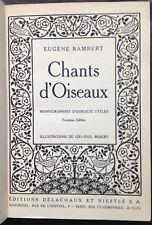 Chants d'oiseaux, d'Eugène Rambert, illust. Léo-Paul Robert - 1936