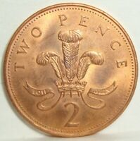 2004 GREAT BRITAIN  2 TWO PENCE ELIZABETH II NICE COIN
