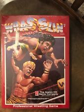'Wrasslin' Avalon Hill Pro Wrestling Board Game NEW in Shrink Wrap but DAMAGED