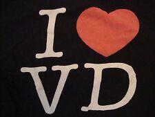 I Love <3 VD  OK Victory Dolls Punk Rock Roller Derby Black T Shirt Size 2XL