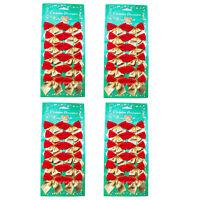 Mini Schleifen rot/gold Weihnachten Weihnachtsschleifen Schleife Christbaum 5cm