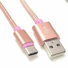UNIVERSAL 1.5m LONG USB Type C CHARGER CABLE REVERSIBLE  Rose Gold
