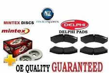 FOR FIAT 500 1.2 CONVERTIBLE 2009-> NEW FRONT BRAKE DISCS SET AND DISC PADS KIT