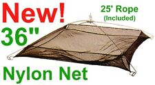 "5 Umbrella Dip Nets,Bait Fish 36"" Cast Net,3/16"" Square Mesh,New"