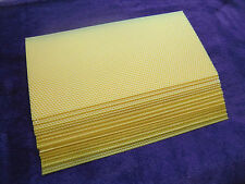 Riesen Bienenwachsplatten zum Basteln für Kerzenherstellung (40cmx20cm) 15 Stück