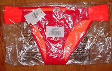 HOLLISTER NEON BRIGHT Orange 2 toned  bikini bottom sz. medium swim
