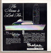 1956 Vintage Ad Trojan Boats for '56 Lancaster,PA