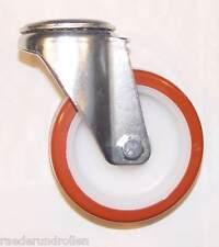 Transportgeräterolle Polyurethanbereifung 160 mm Rückenloch Lenkrolle Rad