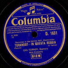 """EVA TURNER -Soprano- """"Turandot"""" In questa reggia / O principi, che a....   S7608"""