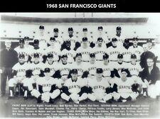 1968 SAN FRANCISCO GIANTS 8X10 TEAM PHOTO BASEBALL PICTURE MLB B/W