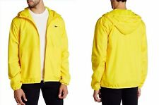 Men's Lacoste Hooded Zip Front Jacket Yellow, Large